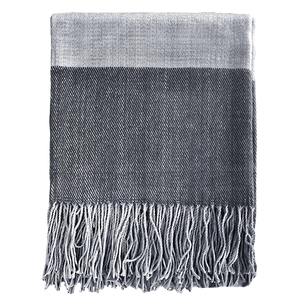Alexandra Throw - Charcoal/Light Grey