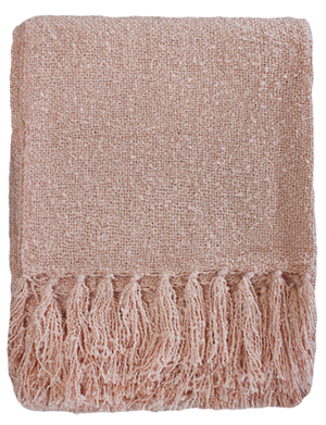 Boucle Throw - Dusky Pink