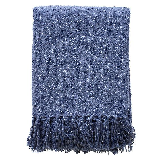 Boucle Throw - Navy