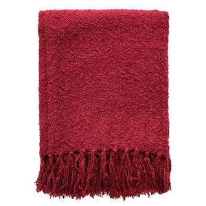 Boucle Throw - Port Red