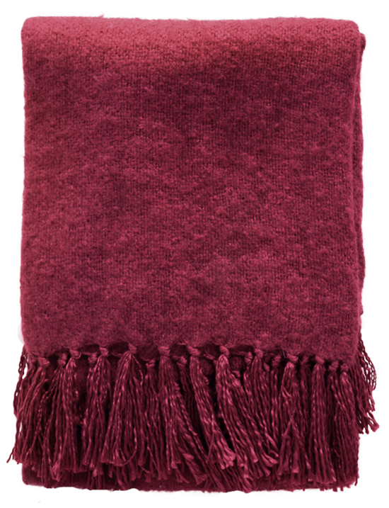 Rhapsody Throw - Port Red