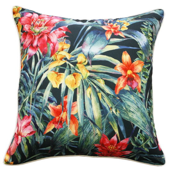 Jungle Flowers Cushion - Multi