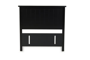 Black Pearl Grooved Headboard - King Single