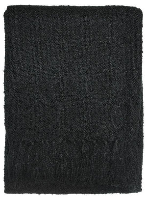 Boucle Throw - Black