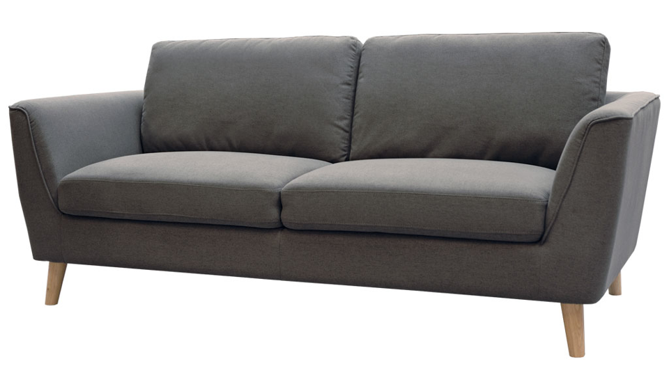 Luna Three Seater Sofa - Grey