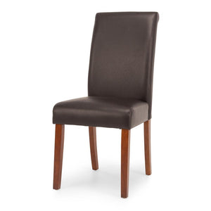 Norfolk Dark Brown Chair - Light Leg