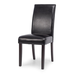 Vienna Pu Black Chair Dark Leg