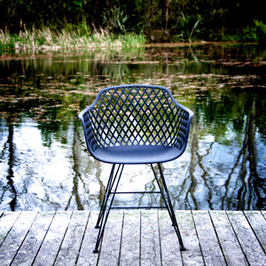 Marley Outdoor Dining Chair - Black
