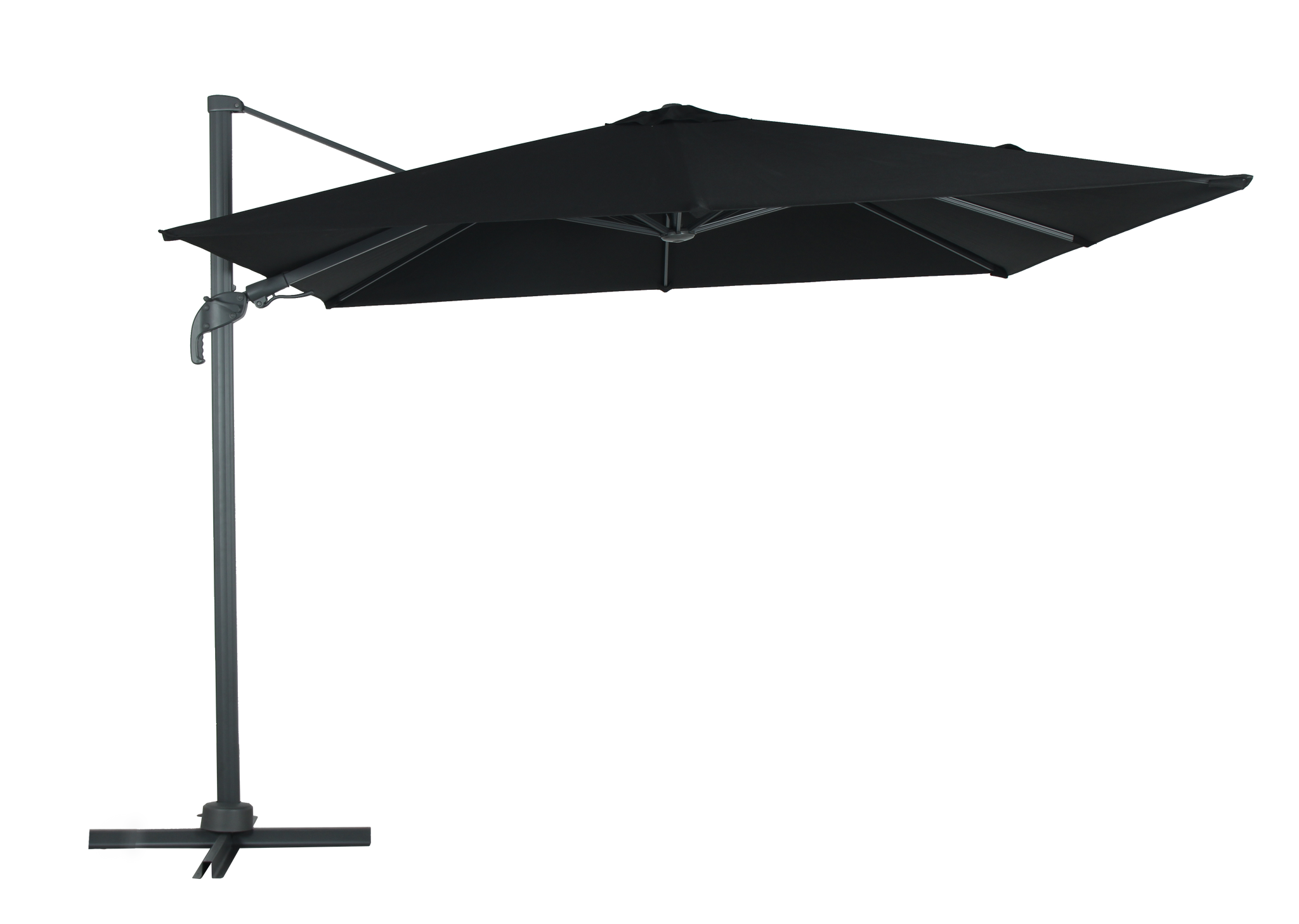 Brighton Outdoor Cantilever Umbrella - Black