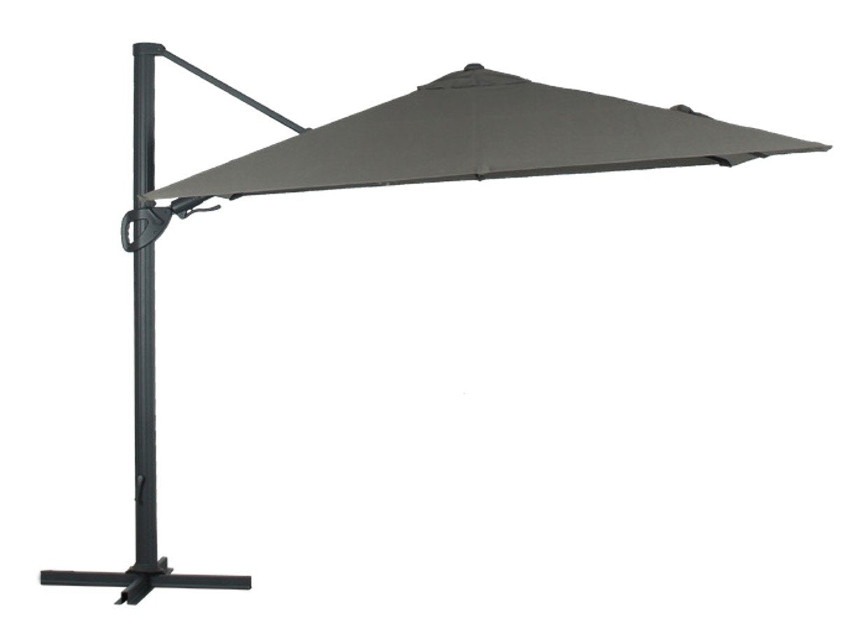 Brighton Outdoor Cantilever Umbrella - Charcoal