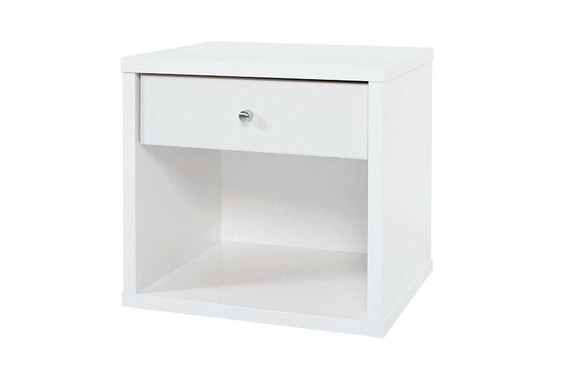 Cosmo Bedside White - One Drawer