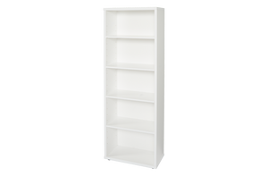 Cosmo Bookcase White - Five Shelves