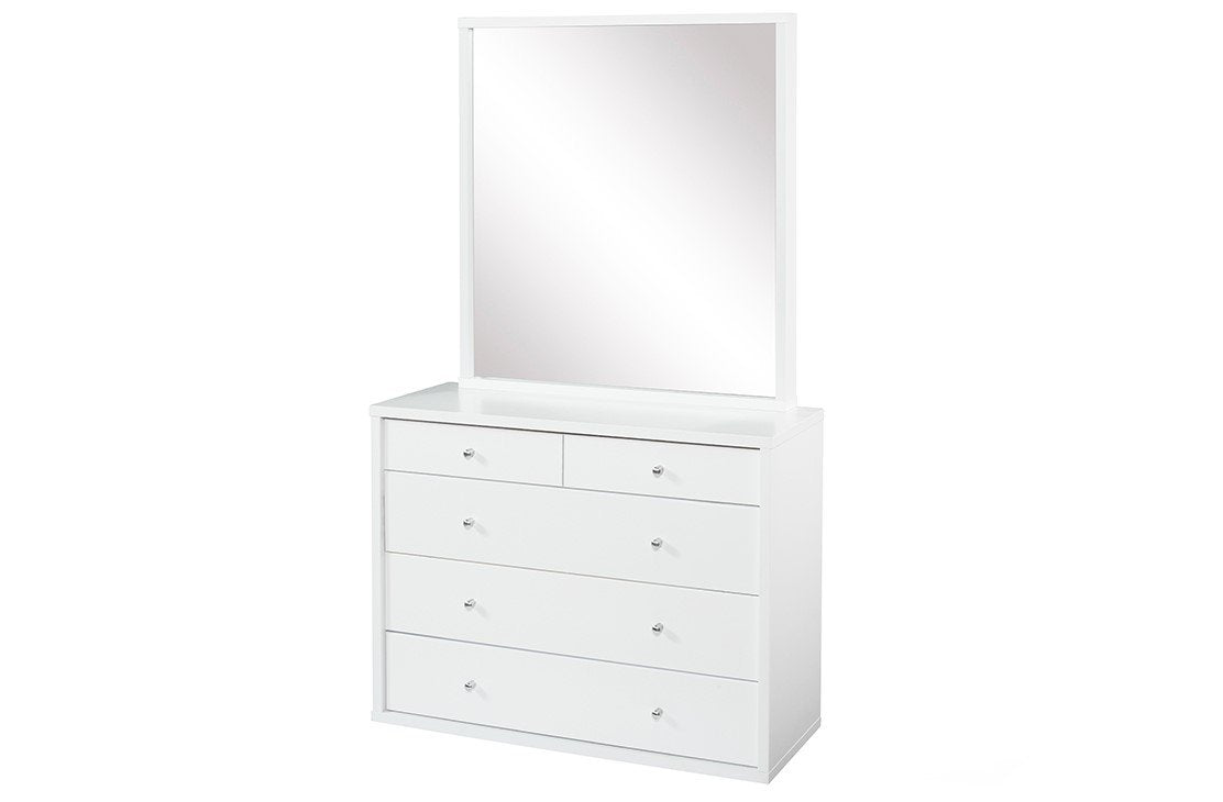 Cosmo Dresser White - Five Drawers