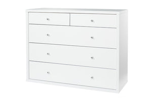Cosmo Lowboy White - Five Drawers