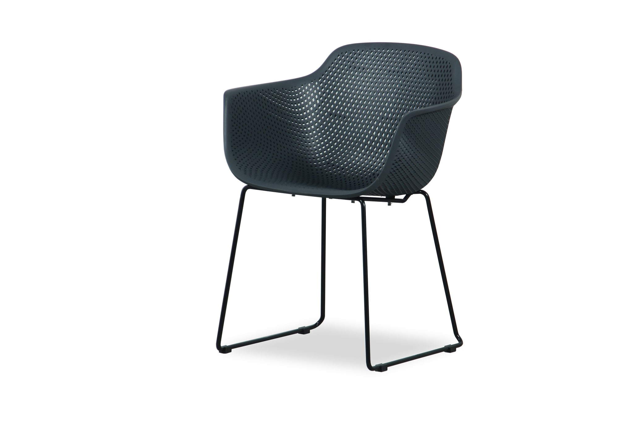 Cove Outdoor Dining Chair - Gunmetal