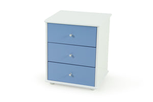 Carnival Bedside Light Blue - Three Drawer