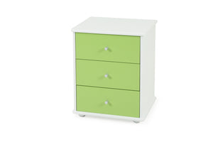 Carnival Bedside Green - Three Drawer