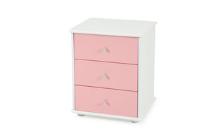 Carnival Bedside Pink - Three Drawer
