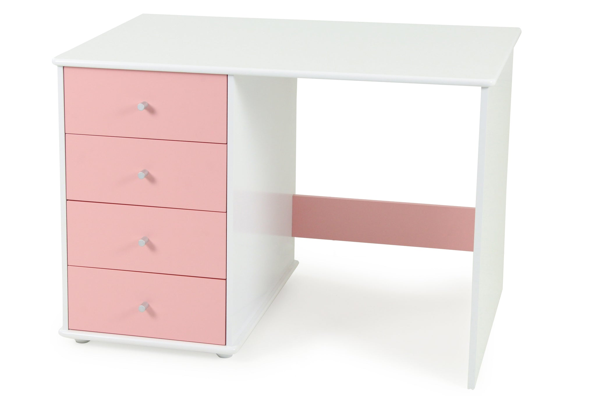 Carnival Desk Pink - Four Drawers