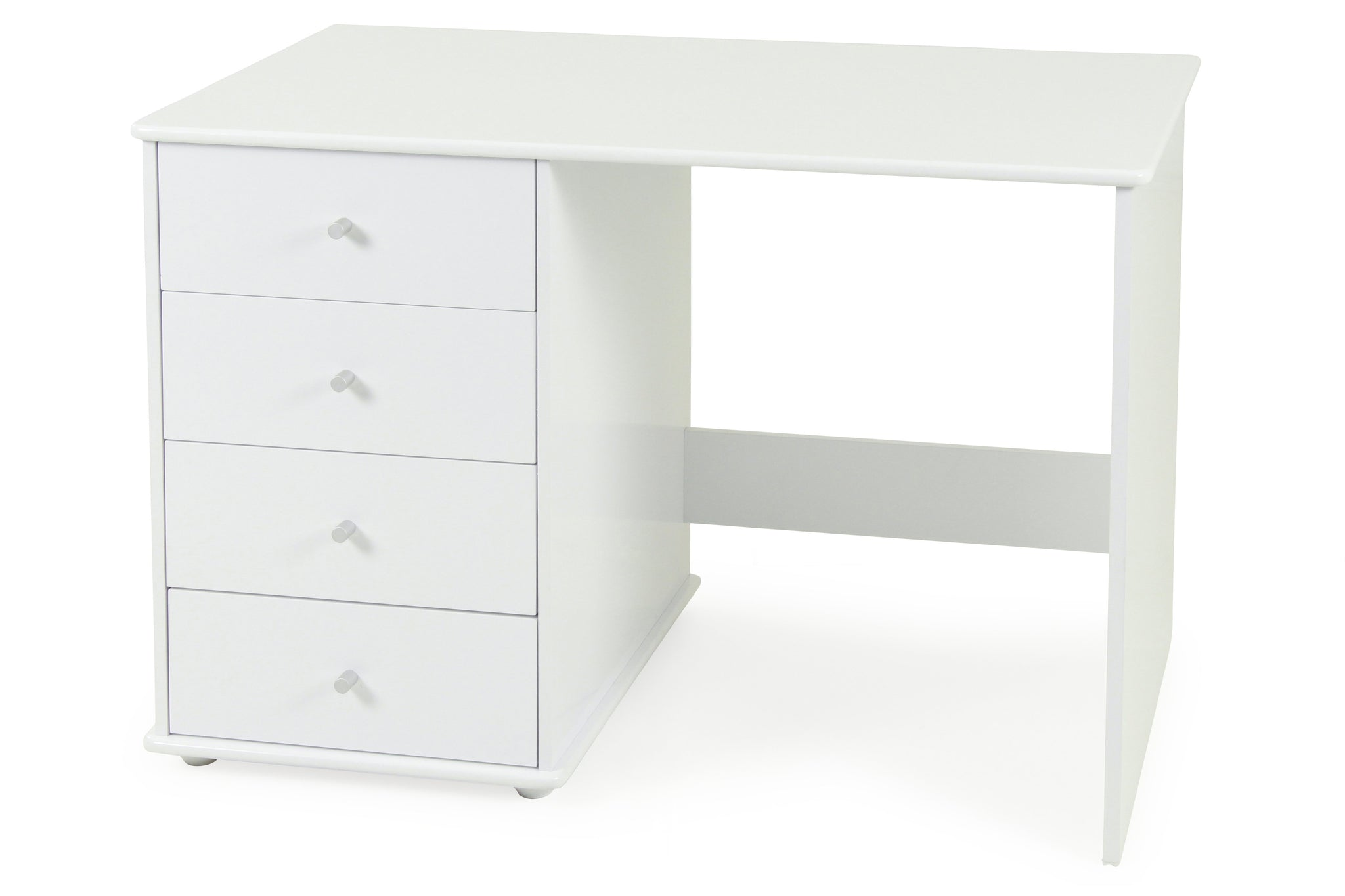 Carnival Desk White - Four Drawers