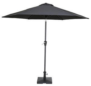 Haast Outdoor Hexagonal Umbrella - Black