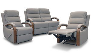 Hawthorn Recliner Suite - Two Seater + Recliner + Recliner