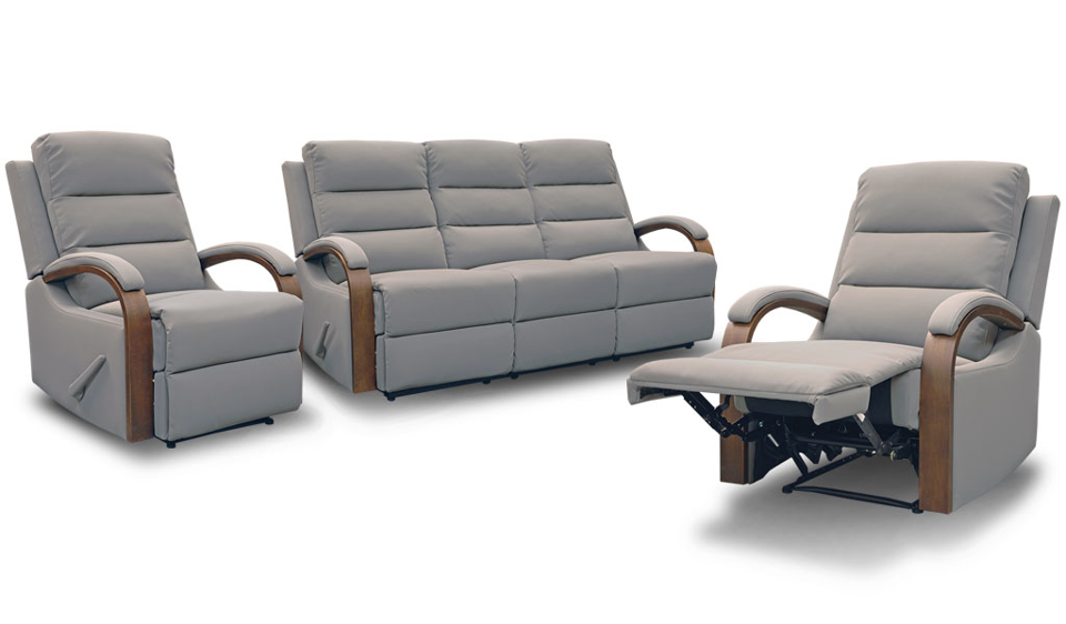 Hawthorn Recliner Suite - Three Seater + Recliner + Recliner