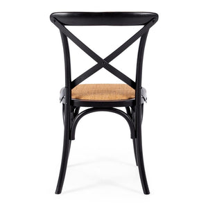 Villa X-Back Chair Aged Black Rattan Seat
