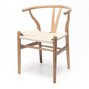 Wishbone Chair Natural Oak Natural Rope Seat