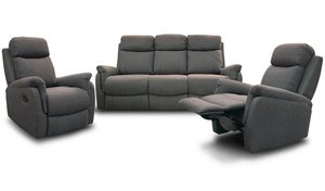 Alani Recliner Suite - Three Seater Recliner + Recliner + Recliner - Midnight
