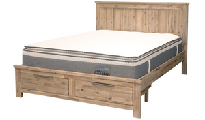 Tiaga Queen Slat Bed - W/Drawers