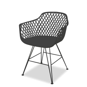 Marley Outdoor Dining Chair - Gunmetal