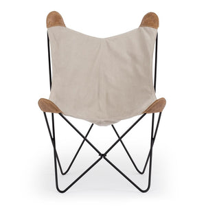 Butterfly Chair - Cement Canvas