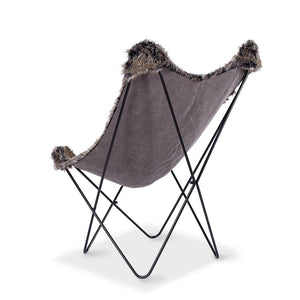 Butterfly Chair - Donkey Brown Fur