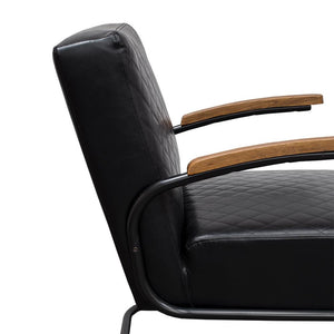 Stitch Armchair - Black PU