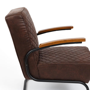 Stitch Armchair - Brown