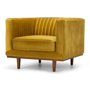 Madison Armchair - Golden Velvet