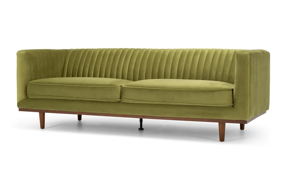 Madison Three Seater - Greenery Velvet