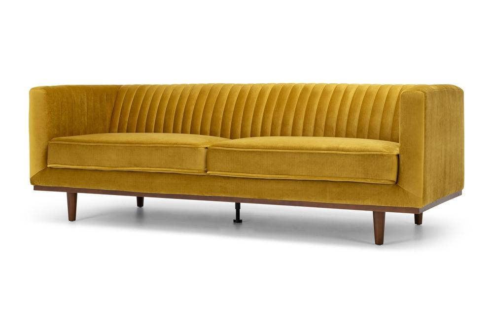 Madison Three Seater - Golden Velvet