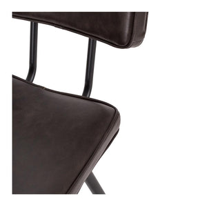 Scandia Barstool Vintage Dark Brown PU