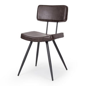 Scandia Chair Vintage Dark Brown PU