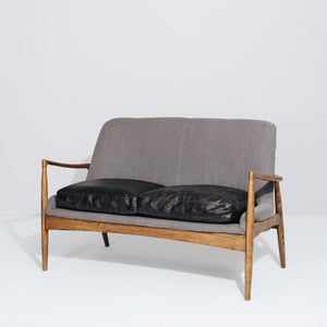 Steiner Two Seater Canvas - Charcoal