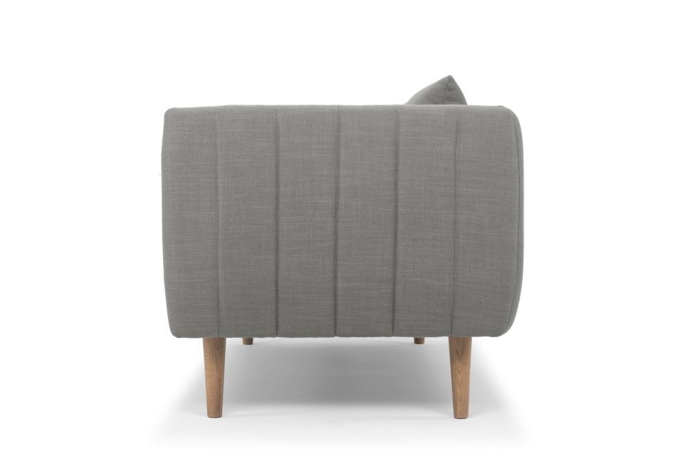 Largos Three Seater - Ludo Grey