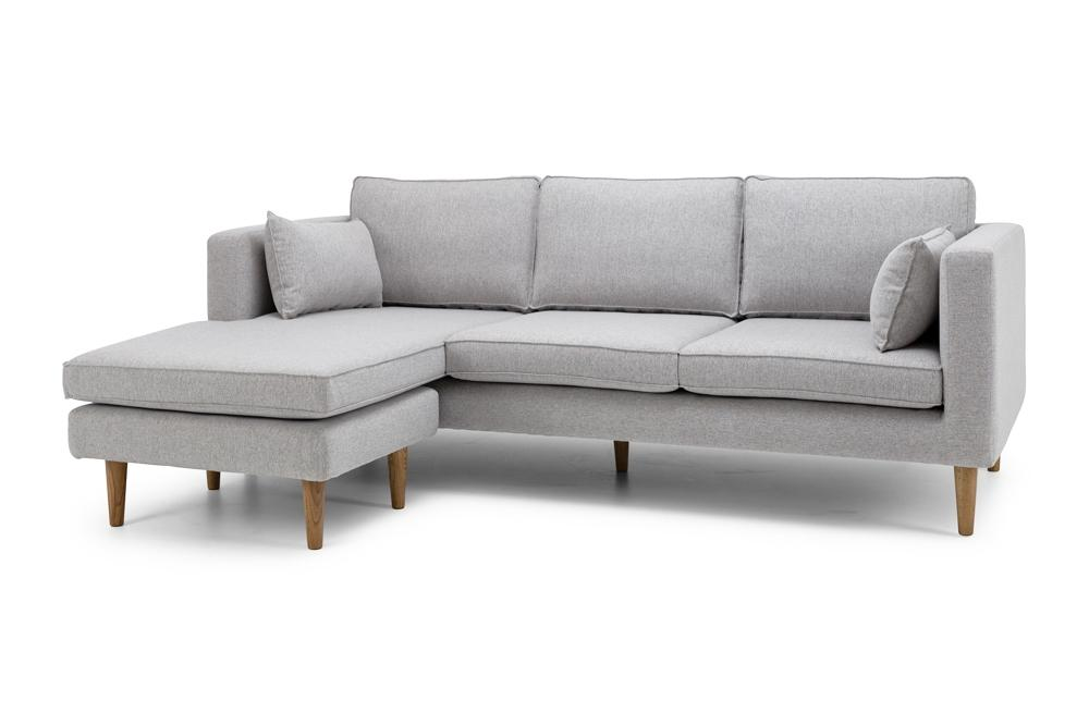 Nord Three Seater Chaise - Light Grey