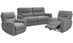 Amazon Recliner Suite - Three Seater Recliner + Recliner + Recliner