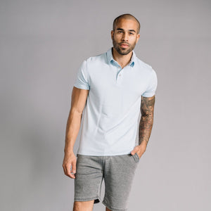 Nicholas Modal Polo in Light Blue