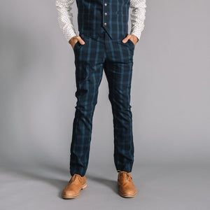 Thomas Dress Chino in Stretch Plaid Ripstop
