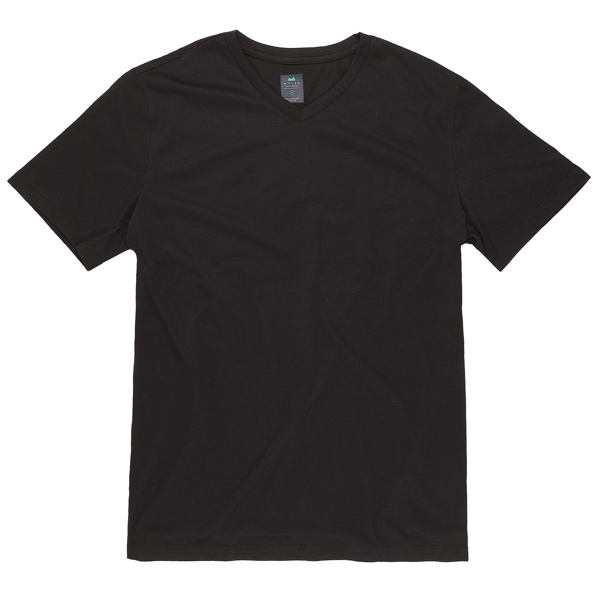 Everyday Tee with V-Neck in Coal