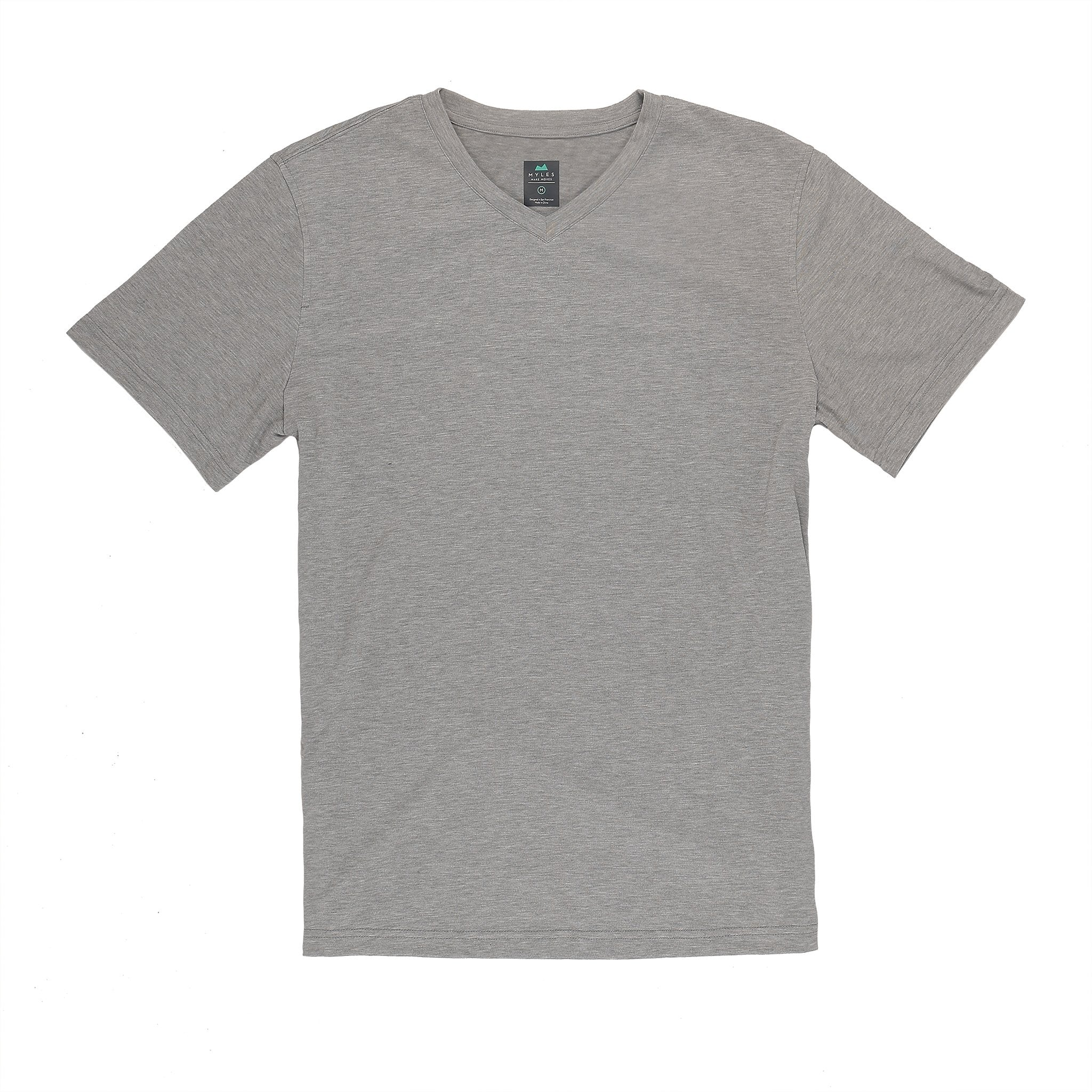 Everyday Tee with V-Neck in Heather Gray