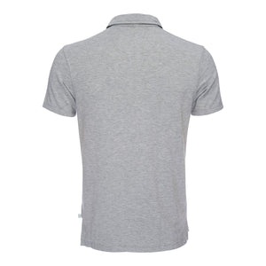 Nicholas Modal Polo in Heather Gray